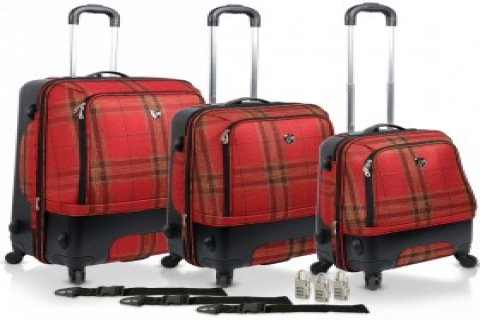 حقائب سفر هيز إيدنبرج اسود واحمر