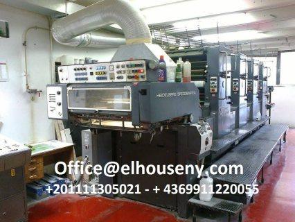 ماكينة طباعة هايدلبرج سبيد ماستر 4 لون موديل 1986
