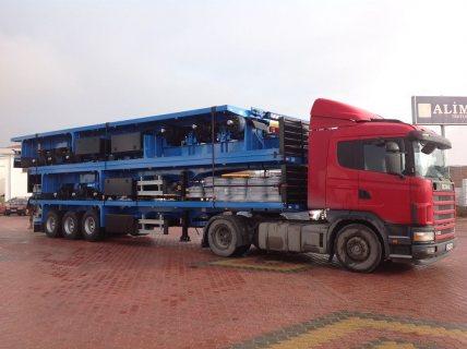 العربات نصف المقطورة عربة مقطورة مسطحة، Flatbed Trailer for Container