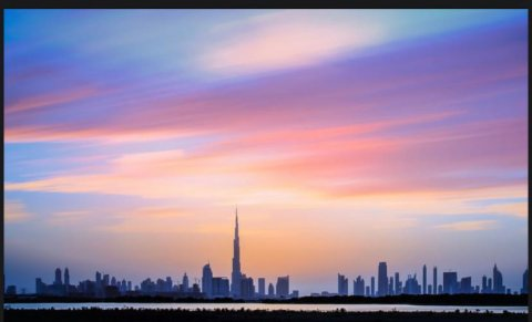 شقق للبيع في دبي اطلالة برج خليفه و محمية راس الخوربالداون تاون الجديده. بأ