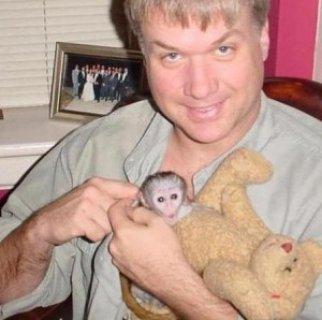 2 Intelligent Male and Female Capuchin monkeys