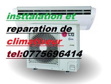 insttalation rt reparation de climatiseur  tel:0775696414