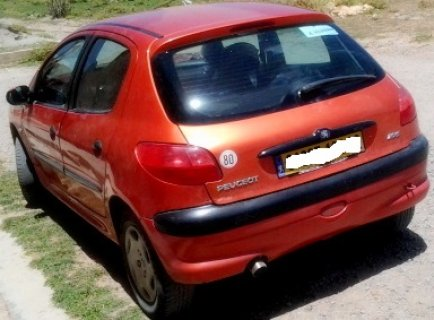 voiture Peugeot 206 orange