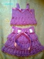 Ensemble pour fillette crochet